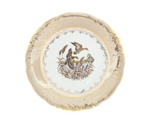 Блюдо круглое 30 см Охота Бежевая Sterne porcelan