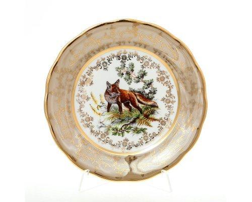 Набор тарелок 19 см Охота Бежевая Sterne porcelan (6 шт)