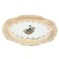 Блюдо овальное 24 см Охота Бежевая Sterne porcelan