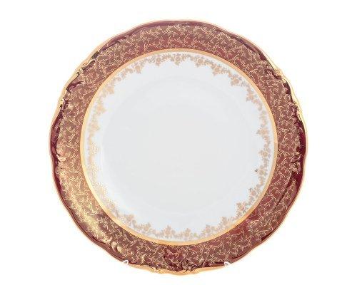 Блюдо круглое 30 см Красный лист Sterne porcelan