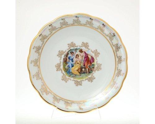 Блюдо круглое 30 см Мадонна Перламутр Sterne porcelan