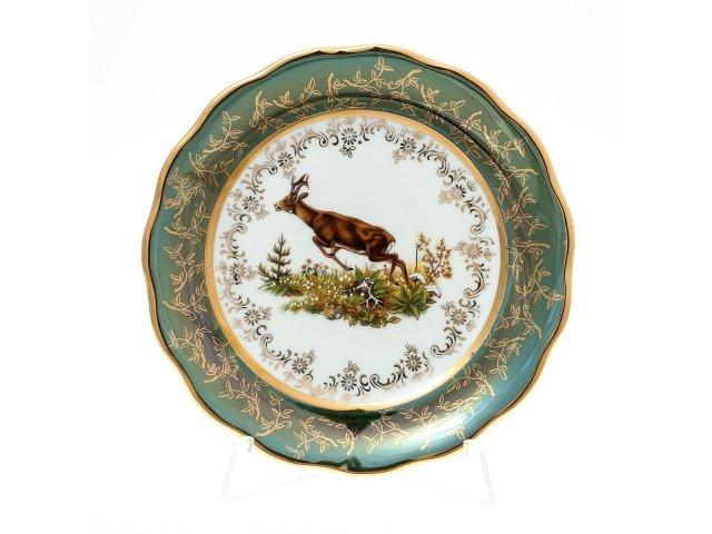 Набор тарелок 17 см Охота Зеленая Sterne porcelan (6 шт)