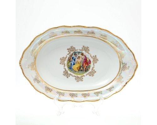 Блюдо для хлеба 36 см Мадонна Перламутр Sterne porcelan
