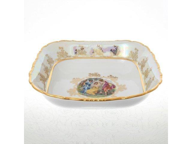 Салатник квадратный 25 см Мадонна Перламутр Sterne porcelan