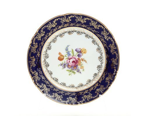 Набор тарелок 21 см Констанция Кобольт Полевой цветок Thun (Тхун) (6 шт)