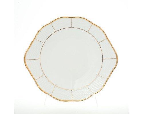 Тарелка для торта 27 см Тхун (Thun) Менуэт Отводка золото