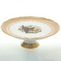 Тарелка для торта 32 см Охота Бежевая Sterne porcelan