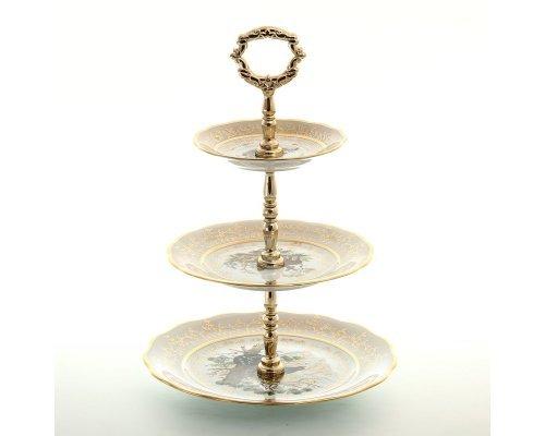 Этажерка (Горка ) 3-яруса Охота Бежевая Sterne porcelan