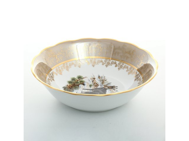 Салатник 23 см Охота Бежевая Sterne porcelan