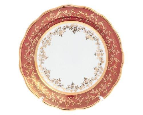 Набор тарелок 17 см Красный лист Sterne porcelan (6 шт)