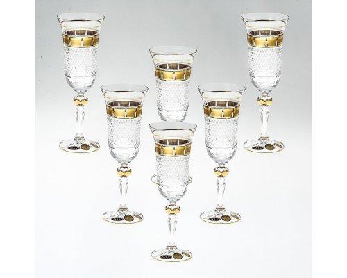 Набор фужеров для шампанского 150 мл хрусталь (6 шт)