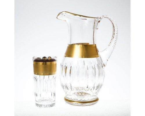 Набор для воды 7 предметов хрусталь с золотом Max Crystal