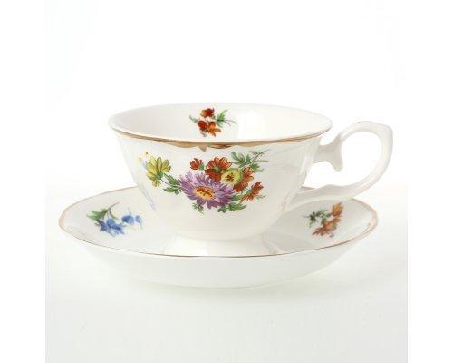 Набор чайных пар Мейсенский букет Royal (Роял) 230 мл (6 пар)