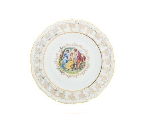 Блюдо круглое 30 см Мадонна перламутр Корона Queens Crown