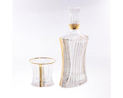 Набор для виски 7 предметов B-G фон Богемия Кристал (Bohemia Crystal)