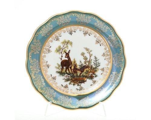 Набор тарелок 17 см Охота зеленая Корона
