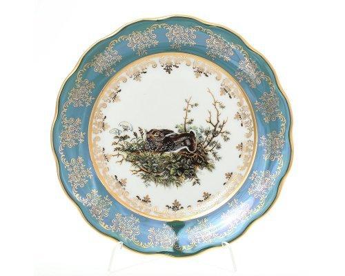 Набор тарелок 21 см Охота зеленая Корона