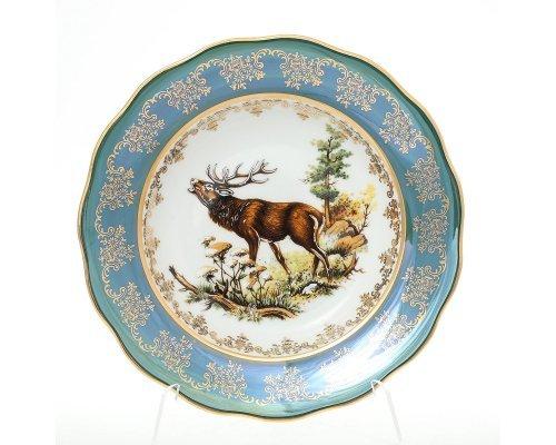Набор тарелок 23 см глубоких Охота зеленая Корона