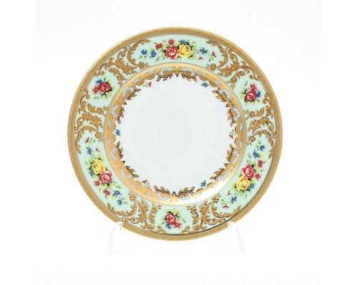 Набор тарелок 17 см Vienna seladon gold Falkenporzellan (Фалкенпоцеллан) (6 шт)
