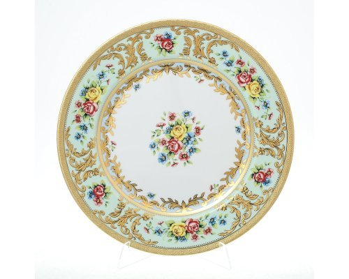 Блюдо круглое 32 см Vienna seladon gold Falkenporzellan (Фалкенпоцеллан)