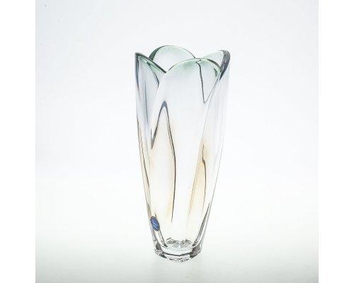 Ваза 25.5 см зеленая Globus Crystalite Bohemia