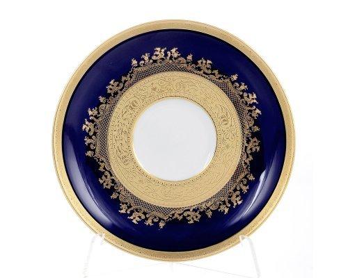 Набор блюдец 15 см Constanza Cobalt Gold 9320 (6 шт)