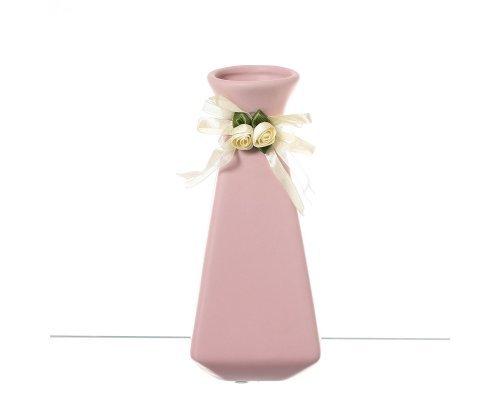 Ваза 20 см Royal Classics с бантиком розовая
