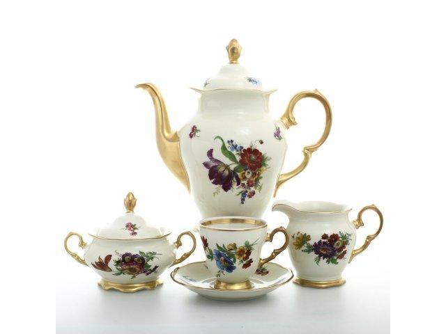 Кофейный сервиз на 6 персон 17 предметов Слоновая кость Sterne porcelan