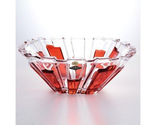 Фруктовница 31 см RED PANELS BOHEMIA TREASURY