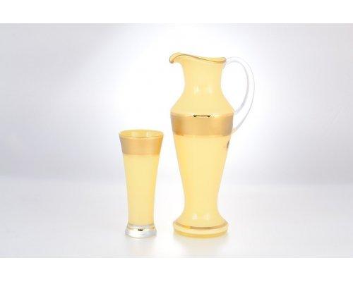 Набор для воды 7 предметов графин и стаканы Матовая полоса AS Crystal