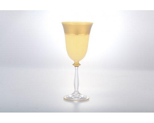 Набор бокалов для вина 250 мл Анжела Матовая полоса 37059 6 шт
