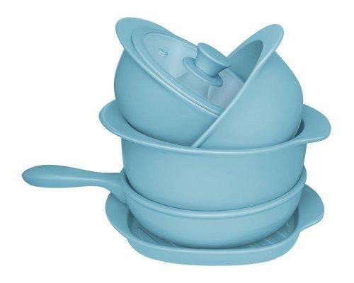 Набор посуды для приготовления 5 предметов (3 кастрюли, 1 сотейник, 1 сковорода гриль)