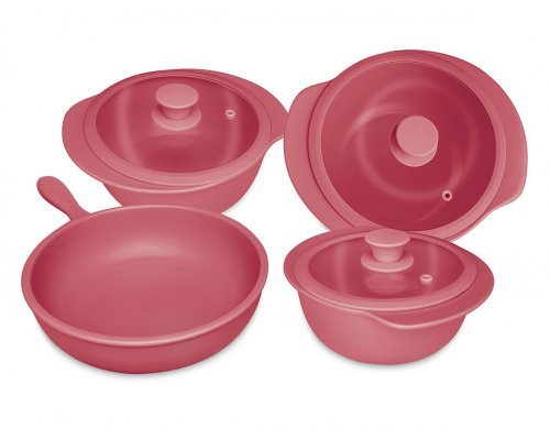 Набор посуды для приготовления 4 предмета (3 кастрюли, 1 сотейник)
