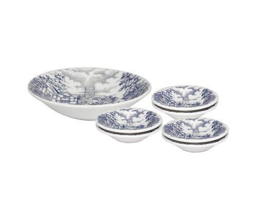 Десертный набор 7 предметов (тарелка для фруктов + 6 десертный тарелок)