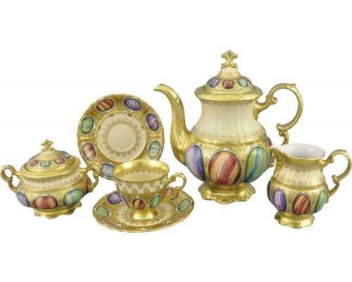 Кофейный сервиз Rudolf Kampf Antique Medallions на 6 персон 15 предметов в подарочном коробе