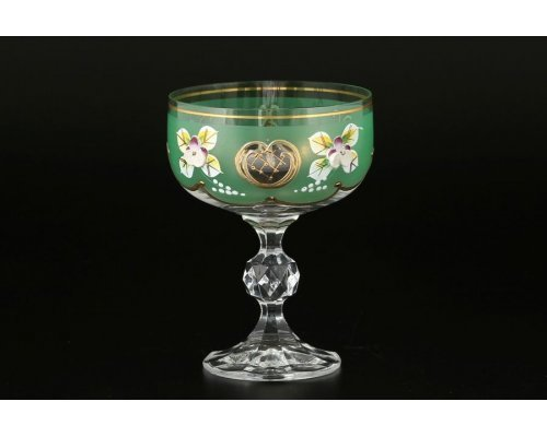 Набор креманок для мартини 200 мл Bohemia (Богемия) Лепка Зеленая D-V