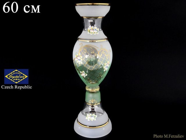 Ваза 60 см Белый NB-Arte Богемия Кристал (Bohemia Crystal)
