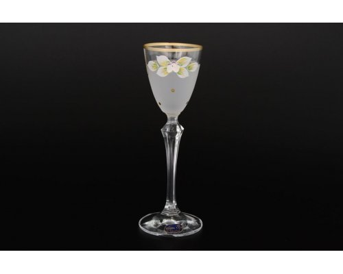 Набор белых матовых рюмок для водки 70 мл 6 штук Богемия Кристал (Bohemia Crystal)