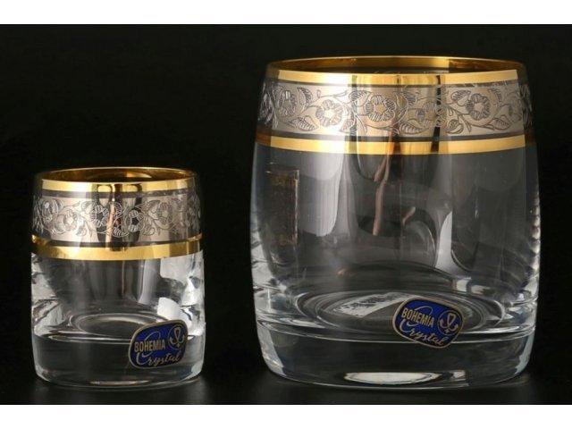 Набор стаканов для виски (6 шт) и стопок для водки 60 мл (6 шт) Идеал Панто Crystalite Bohemia