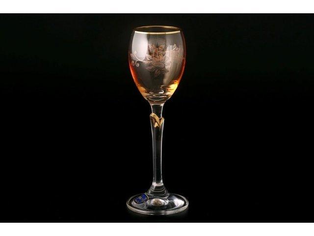 Набор рюмок для водки 70 мл Lilly Богемия Кристал (Bohemia Crystal) желтые (6 шт)