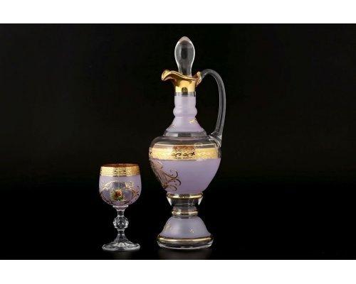 Набор для ликера 7 предметов Охота розовая B-G Bohemia (Богемия)