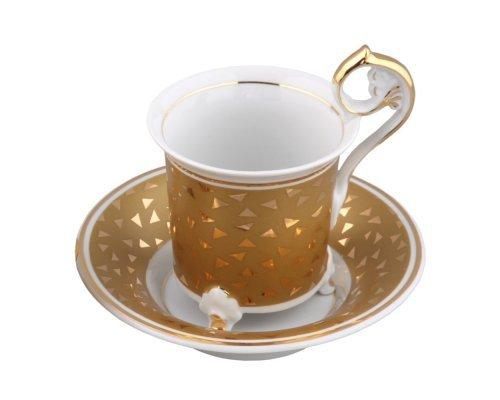 Чашка высокая с блюдцем 0,15л Rudolf Kampf Тет-а-тет A859