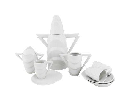 Сервиз мокко кофейный Rudolf Kampf Manhatten 0000 на 6 персон 15 предметов белый в подарочном коробе