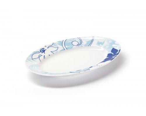 Блюдо овальное маленькое 23см Tunisie Porcelaine Mimosa Bleu Sky 2230