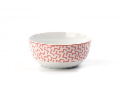 Салатник 13 см Tunisie Porcelaine Розовый Лабиринт