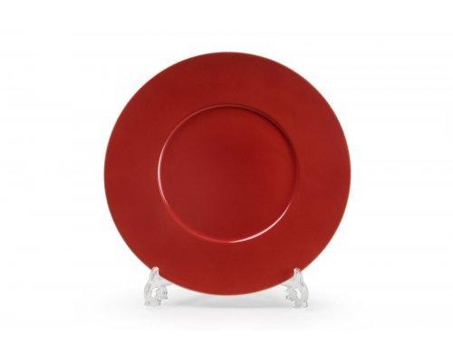 Блюдо круглое 31 см Tunisie Porcelaine Putoisage rouge 3067