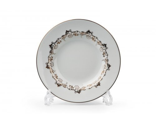 Tunisie Porcelaine Mimosa Lierre Or 947 набор тарелок глубоких 27 см. на 6 персон