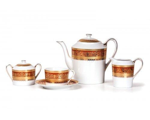 Tunisie Porcelaine Mimosa Didon Orange 1642 чайный сервиз на 6 персон 15 предметов