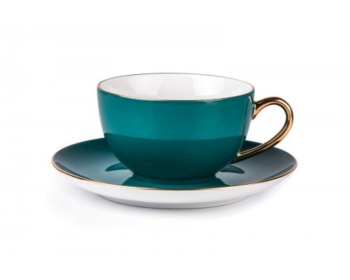 Tunisie Porcelaine Monalisa Rainbow Or 3123 набор чайных пар 220мл на 6 персон