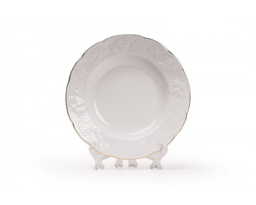 Tunisie Porcelaine Vendange Filet Or Тарелка глубокая 22 см